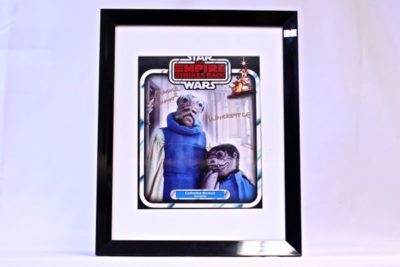 Cathy Munroe Autograph who played the star wars character 'Wiorkettle'