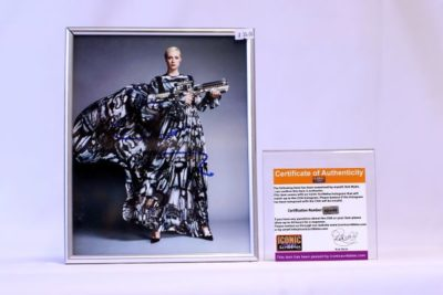 """Gwendoline Christie """"Captain Phasma"""" from Star Wars VII: The Force Awakens Signed Picture"""