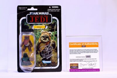 Star Wars Vintage Series Wicket Carded Figure Signed